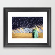 Desert Lightning Framed Art Print