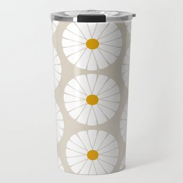Minimal Botanical Pattern - Daisies Travel Mug