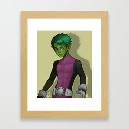 Beast Boy Framed Art Print