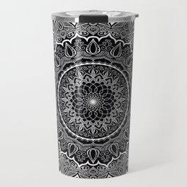 Mandala Black&White Travel Mug