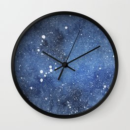 Blue nebula Wall Clock