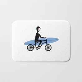 Winter surfer Bath Mat