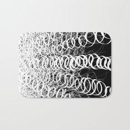 Black Spiral Swirls Reverse Bath Mat