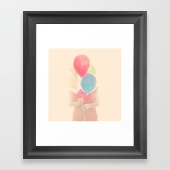 Balloon Girl Framed Art Print