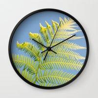 fern Wall Clocks featuring Fern by Pati Designs & Photography
