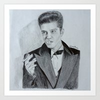 bruno mars Art Prints featuring Bruno Mars by Leroybrea