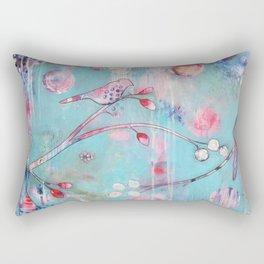 Sakura Birds Rectangular Pillow