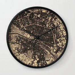 Vintage Map of Paris France (1907) Wall Clock
