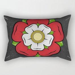 Red Tudor Rose British Flag Red Union Historic Heraldry Rectangular Pillow