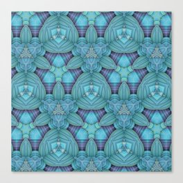 Cyan & Lavender Pattern Canvas Print