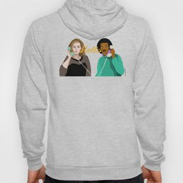 Two People Saying Hello - By Cup of Sarcasm Hoody