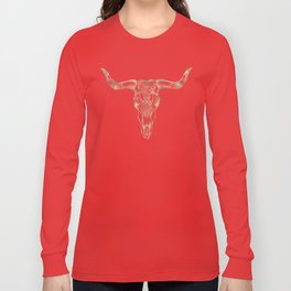 Bull Skull Gold Long Sleeve T-shirt