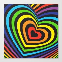rainbow heart volumetric image Canvas Print