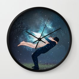 unforgettable hug colored. Wall Clock