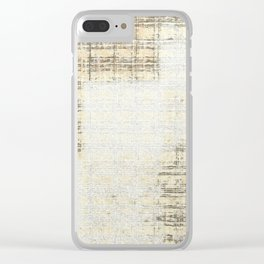 Old twill Clear iPhone Case
