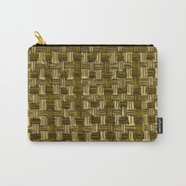 Wicker Work Carry-All Pouch