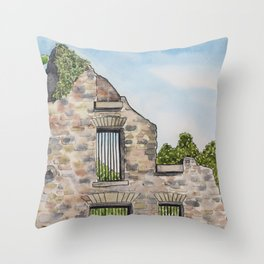 Ruins in the summertime Throw Pillow