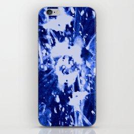 Broken Blue iPhone Skin