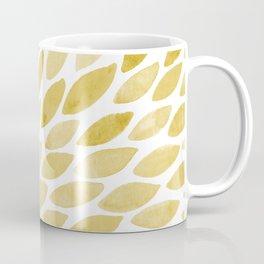 Watercolor brush strokes burst - yellow Coffee Mug