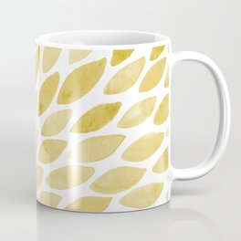 Watercolor brush strokes burst - yellow Coffee Mug