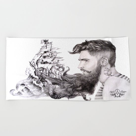 Sailor's Beard Beach Towel