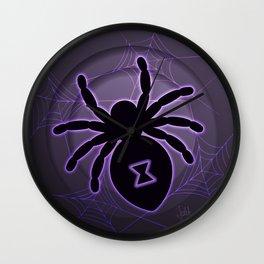 Halloween Spider Wall Clock
