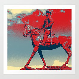 RED ARMY COMMANDER Art Print
