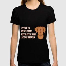 Invest In Tennis Balls Dog Money ROI Gift T-shirt