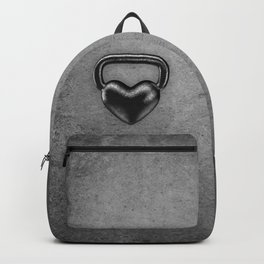 Kettlebell heart / 3D render of heavy heart shaped kettlebell Backpack