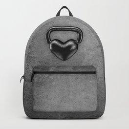 Kettlebell heart / 3D render of heavy heart shaped kettlebell Backpack