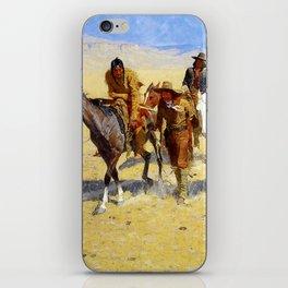 "Frederic Remington Art ""Pony Tracks In the Buffalo Trail"" iPhone Skin"