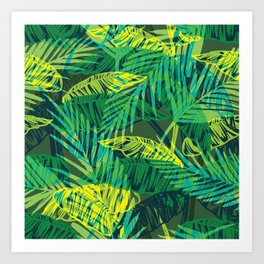 Junglish leaves Art Print