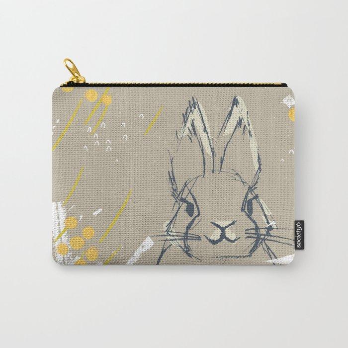 Bunny Portrait M+M Latte by Friztin Carry-All Pouch
