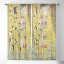 The Kiss, Gustav Klimt Sheer Curtain