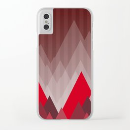 Triangular Mountain Range Clear iPhone Case