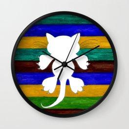 Stylized Cat Silhouette Wall Clock