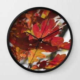Oak Glow - Autumn Colors Wall Clock