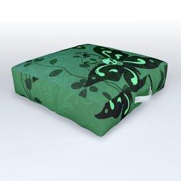 'Skullerflies in the Garden' Outdoor Floor Cushion