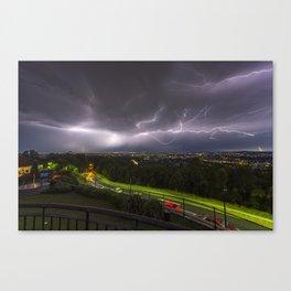 Summer Storm Over Brisbane Canvas Print