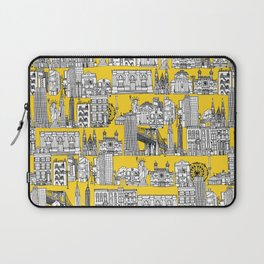 New York yellow Laptop Sleeve