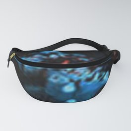 Abstract Black Blue Outer Space Galaxy Cosmos Jodilynpaintings Painting Fanny Pack
