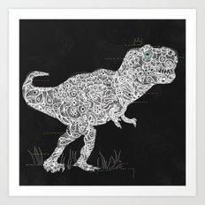 Lace Rex Art Print