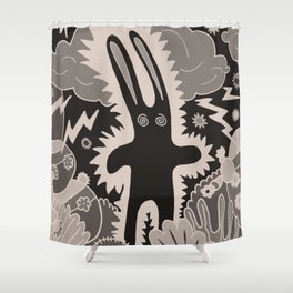 Electric Bunny Shower Curtain