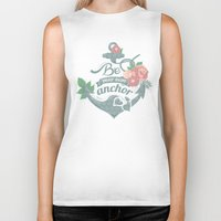 anchor Biker Tanks featuring Anchor by siny