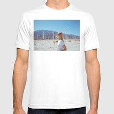 Palm Springs Windmills IX Mens Fitted Tee MEDIUM White