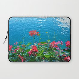 Chapel Bridge Flowers Laptop Sleeve