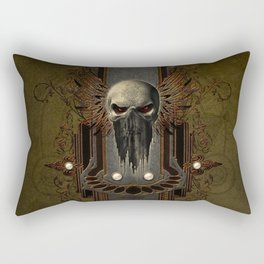 Amazing skull with wings Rectangular Pillow