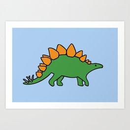 Cute Stegosaurus Art Print