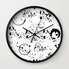 Spatter Wall Clock