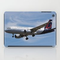 brussels iPad Cases featuring Brussels airlines Airbus A319 by David Pyatt